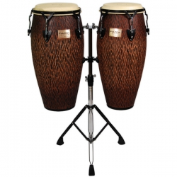 Tycoon 10'' & 11'' Chiseled Orange Series Congas + Double Stand