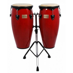 Tycoon 10'' & 11'' + Double Stand / Supremo Series Red Congas