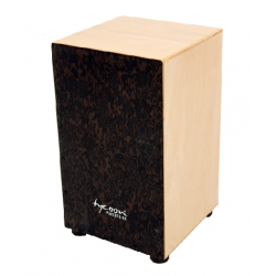 Tycoon 29 Series Siam Oak Cajon With Black Makah-Burl Front Plate