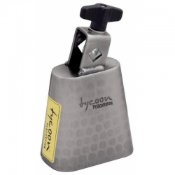 Tycoon 5'' Hand-Hammered Brushed-Chrome Cowbell
