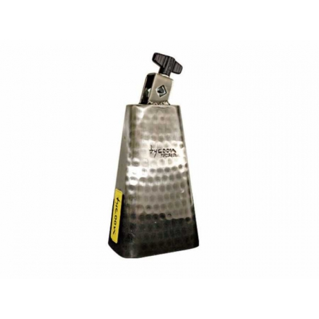 Tycoon 6½'' Hand-Hammered Brushed-Chrome Cowbell<br>Fotoğraf: 1/1