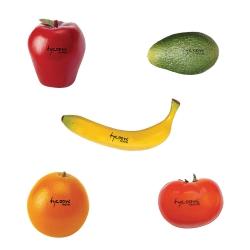 Tycoon Fruit & Veggies Shaker Set In Rattan Basket