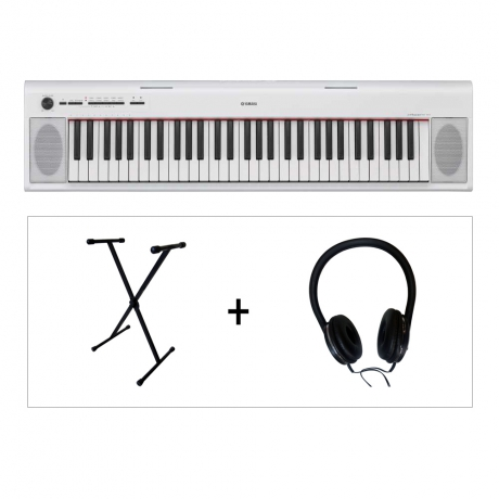 Yamaha NP12 WH Piaggero 61 Tuşlu Klavye (Stand & Kulaklık Hediye)<br>Fotoğraf: 1/1