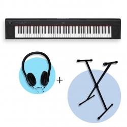 Yamaha NP32 BK Piaggero 76 Tuşlu Klavye  (Stand & Kulaklık Hediyeli)
