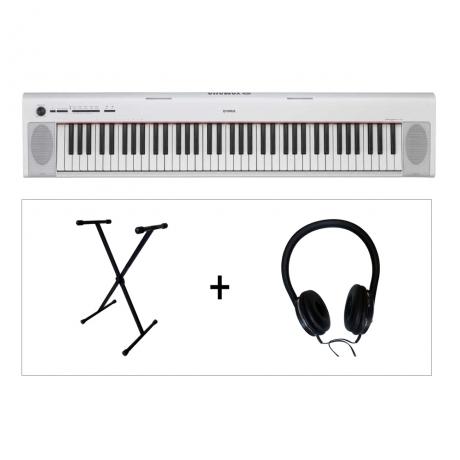 Yamaha NP32 WH Piaggero 76 Tuşlu Klavye  (LX189 Kulaklık & KS102 Stand Hediyeli)<br>Fotoğraf: 1/1