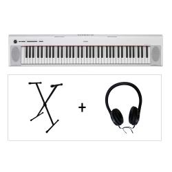 Yamaha NP32 WH Piaggero 76 Tuşlu Klavye  (LX189 Kulaklık & KS102 Stand Hediyeli)