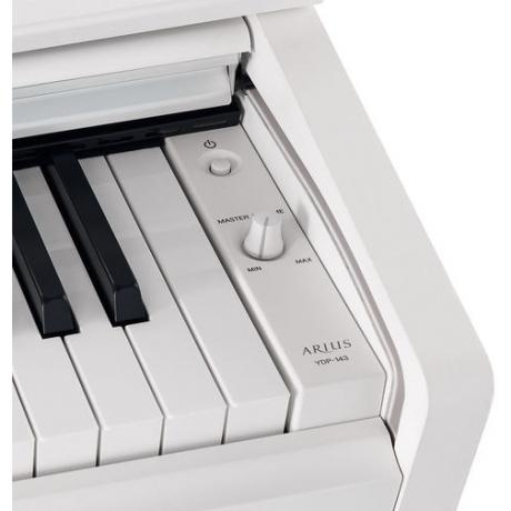 Yamaha YDP163WH Mat Beyaz Dijital Piyano (Tabure & Kulaklık Hediyeli)<br>Fotoğraf: 4/8