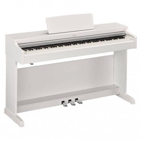 Yamaha YDP163WH Mat Beyaz Dijital Piyano (Tabure & Kulaklık Hediyeli)<br>Fotoğraf: 2/8