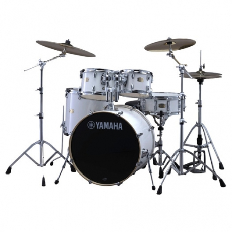 YamahaStage Custom Birch 5-Parça Akustik Davul Seti (Pure White)<br>Fotoğraf: 1/3