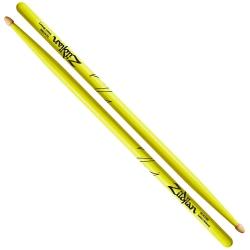 Zildjian Z5AACDGY 5A Baget (Neon Yellow)