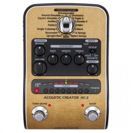 Zoom AC-2 Acoustic Creator Efekt Pedalı<br>Fotoğraf: 1/6