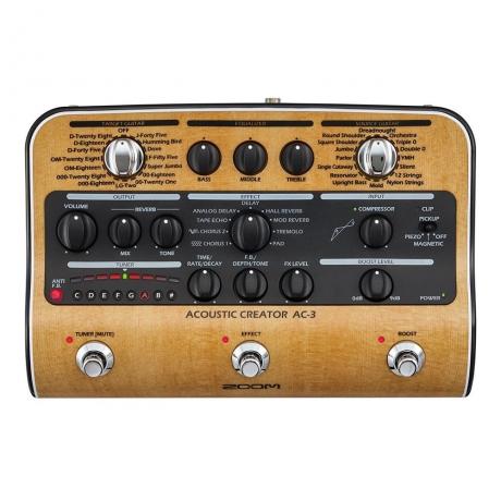 Zoom Ac-3 Akustik Gitar Prosesörü<br>Fotoğraf: 1/3