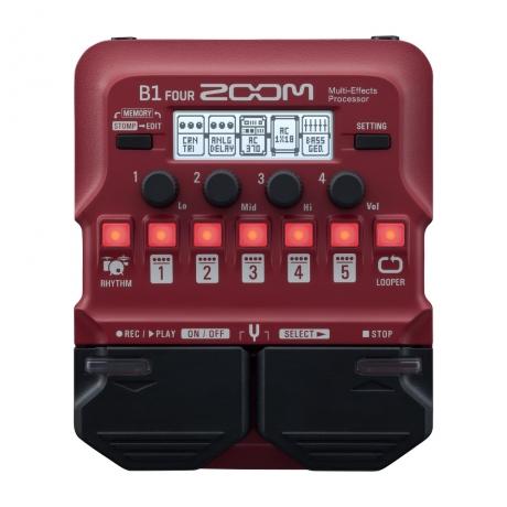 Zoom B1 FOUR Bass Multi-Efekt Prosesörü<br>Fotoğraf: 1/3