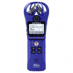 Zoom H1n Digital Handy Recorder (Mavi)