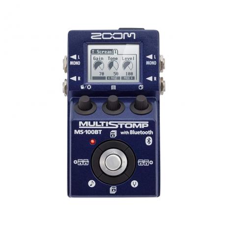 Zoom MS100BT MultiStomp Elektro Gitar Pedalı (Bluetooth)<br>Fotoğraf: 1/2