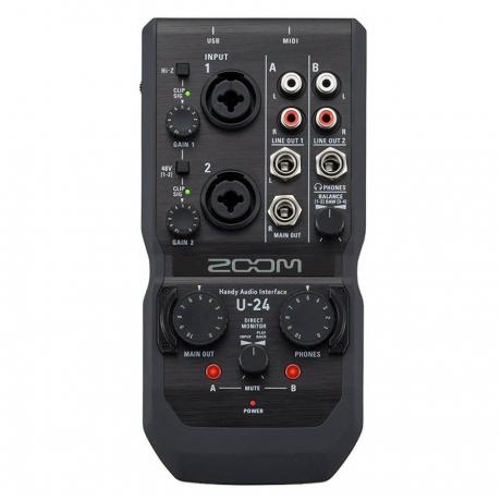Zoom U-24 Handy Audio Interface<br>Fotoğraf: 2/3