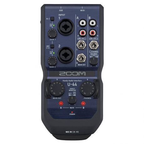 Zoom U-44 Handy Audio Interface<br>Fotoğraf: 1/6
